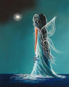 Aquamarine Fairy By Shawna Erback Canvas Print / Canvas Art by Shawna Erback