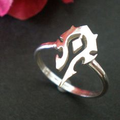 WoW Silver Ring Video Games Jewelry for Gamer by yhtanaff on Etsy
