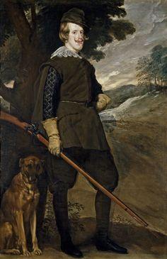 Diego Velázquez (Spanish 1559–1660) [Baroque, Portrait] Philip IV in Hunting Garb, circa 1633-1636. Prado Museum, Madrid.