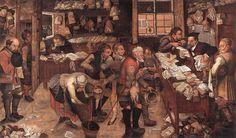 Pieter Brueghel, the Younger. Village Lawyer, on 1621. Museum voor Schone Kunsten, Ghent.