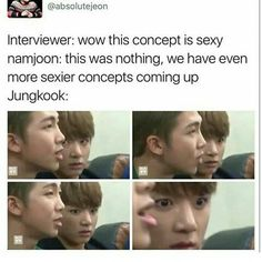 he may look shook but on the inside hes smirking oh and bts DNA and Mic Drop yes yes yessssssss! Bts Bangtan Boy, Bts Boys, Jimin, Namjoon, Hoseok, Seokjin, Taehyung, Bts Memes, Funny Memes