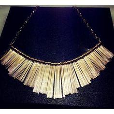 Golden alloy choker necklace