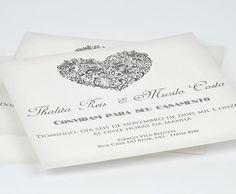 Convite de Casamento Tão seu