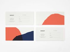 Ortolan : Projects : Branding + Identity : Ovest business card