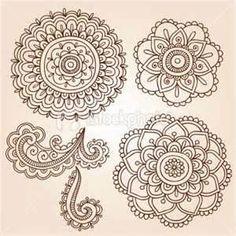 Henna Mehndi Tattoo Mandala Flowers Vector Elements Royalty Free Stock