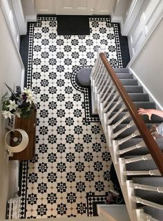 london mosaic supply beautiful period style floor tiles that are available in a sheeted format . pavimento london mosaic supply beautiful period style floor tiles that are available in a sheeted format . Hall Tiles, Tiled Hallway, Hallway Walls, Hallways, Modern Hallway, Tile Entryway, Entry Hallway, Entry Tile, Entryway Flooring