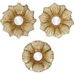 Propac Flower Mirror 1-2-3 Wall Art Set of 3