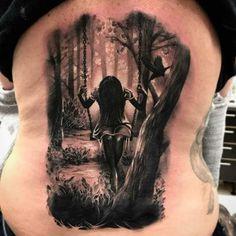Wood Tattoo, Mädchen Tattoo, Tattoo Shading, Dark Tattoo, Tatoo Art, Forest Tattoo Sleeve, Forest Tattoos, Dark Forest Tattoo, Rose Tattoos