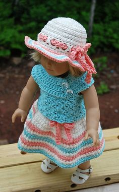 ***Listing is for Pattern Only, not a finished item*** Do you know a little doll in your life who could use a fashion makeover? :) Or a