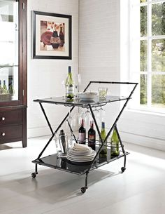 Shop Powell Furniture Casual Dining Serving Cart with great price, The Classy Home Furniture has the best selection of Kitchen Carts to choose from Large Home Office Furniture, Powell Furniture, Office Furniture Stores, Accent Furniture, Modern Furniture, Furniture Design, Bamboo Bar, Vintage Bar Carts, Serving Cart