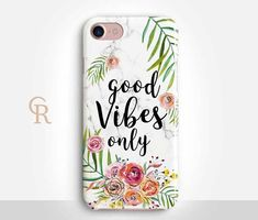 Good Vibes Phone Case For iPhone 8 iPhone 8 Plus iPhone X...not Vera Bradley but totally compliments!