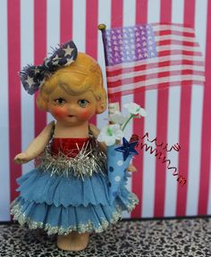 Cute little gal repurposed for the fourth. Magpie Ethel