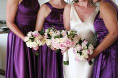 Some colours are just MFEO (made for each other).  Pink & purple are a perfect example.  Love this photo. www.stradbrokeweddings.com.au
