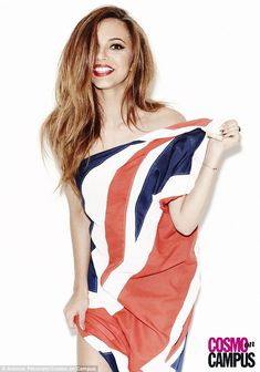 Leigh-Anne Pinnock wraps up in a Union Jack as the Little Mix girls pose nude under flags in a fun new shoot | Mail Online