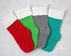 Caron Crochet Christmas Stocking - Repeat Crafter Me