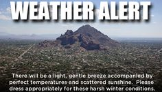 Winter in Arizona ▓ Why we are here