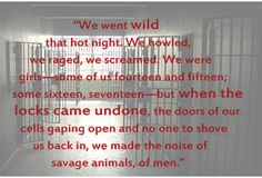 Teaser #6 from THE WALLS AROUND US. These are the opening lines of the whole book. Coming March 24, 2015 from Algonquin.