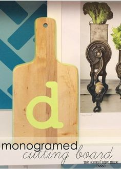 I wanted to show you three quick stenciling projects that anyone can do to add a fun modern-typographical-punch to any space in your house! Learn how to make this monogramed cutting board and two other fun projects!