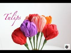Fiori di carta fai da te: i tulipani - Pane, Amore e Creatività | Pane, Amore e Creatività Tissue Paper Flowers, Tulips Flowers, Flower Crafts, Paper Art, Rose, Mani, Plants, Handmade, Diy