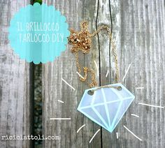 DIY diamond whit the shrinking plastic