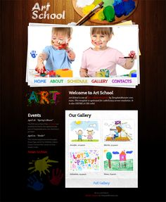 Free Website Template with JustSlider for Art School