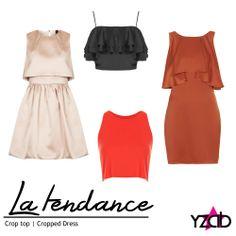 REPORTE #YZAB TENDENCIAS 2014 Prendas clave: Recortadas Los cropped top continúan, pero se vuelven más versátiles al recortar también suéteres, ideales para las que no temen mostrar el abdomen. Si no te atrae la idea de enseñar el ombligo, opta por un cropped dress, vestido que genera la ilusión de esta blusa pero sin mostrar la pancita. Inspírate con más tendencias para 2014 en www.yzab.com.ve