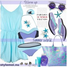 Summer by katjuncica on Polyvore featuring Just Cavalli, COOLA Suncare and Rodial