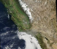 Two-thirds of California. From that high up, human activity is hard to spot.