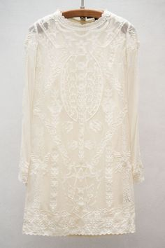 """What a cool """"untraditional"""" wedding dress.  It reminds me of what I wore when I got married in 1970.  Very short, very """"hippieish,"""" and very Boho! - Isabel Marant Lace Dress - So Dreamy ...... Love The Stars!"""