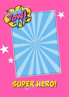 Super Hero party Pink & Blue Batgirl Super by GlitterInkDesigns