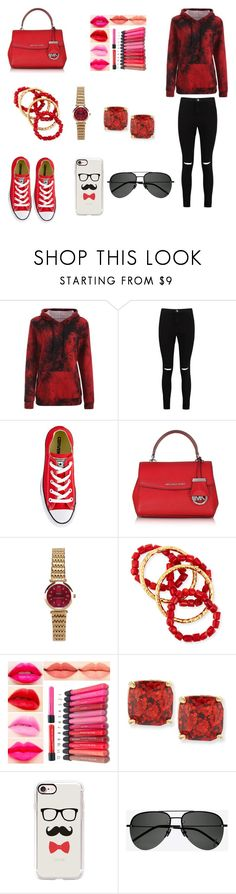 """""""Untitled #30"""" by meme-111 ❤ liked on Polyvore featuring Boohoo, Converse, Michael Kors, NEST Jewelry, Kate Spade, Casetify and Yves Saint Laurent"""