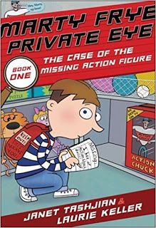 KISS THE BOOK: Marty Frye Private Eye: The Case of the Missing Action Figure & Other Mysteries by Janet Tashjian, illustrated by Laurie Keller - ADVISABLE