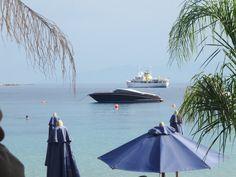 's Riva at Psarou beach, Mykonos Mykonos, Outdoor Furniture, Outdoor Decor, Hammock, Opera House, Most Beautiful, Island, World, Opera