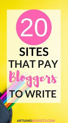 In this post, I share 20 sites that will pay bloggers & writers to write for their website!- side hustles, work from home, ways to make extra money, blogging, focus groups, side hustle, side hustles, make extra money, ways to make extra money, ways to mak