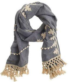 https://www.etsy.com/people/shirleygueta https://www.etsy.com/uk/shop/TikTABaby Embellished chambray scarf - summer 2014