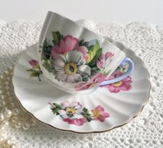 Wonderful vintage Shelley bone china tea cup and saucer, made in England. It is in good condition, no chips, cracks or crazing. Please Note: The items I sell are not new, they are vintage or antiques, it goes without saying that there maybe some imperfections which I will try my