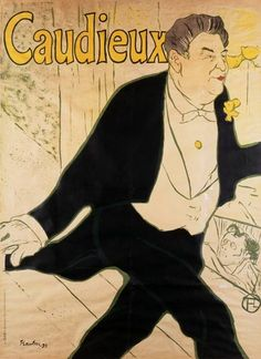Giclee Print: Poster for Caudieux French Music-Hall Entertainer by Henri de Toulouse-Lautrec : Henri De Toulouse Lautrec, Brasserie Paris, Canvas Paintings For Sale, Oil Paintings, Art Nouveau Poster, Grafik Design, Belle Epoque, Vintage Advertisements, Vintage Posters
