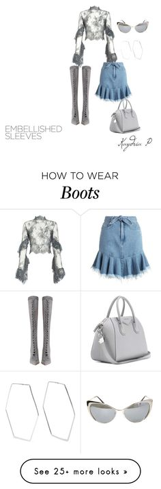 """""""A lil lace and knee high boot never hurt anyone"""" by kaydriap on Polyvore featuring Lana Mueller, Zimmermann, Givenchy, Adina Reyter and Tom Ford"""