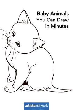 How to draw animals: Easy kitten | ArtistsNetwork.com #drawing #art