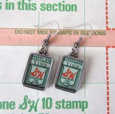 How to make jewelry from vintage trading stamps.