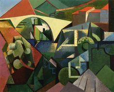 Auguste Herbin - The Yellow Bridge at Ceret
