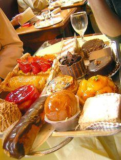 Choice of desserts at Cafe Les Deux Magots by paris_find, via Flickr