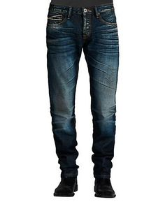 Cult Of Individuality Greaser Straight Aston Wash Jeans Men's Blue 34X