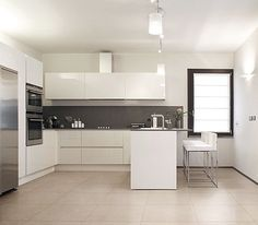 cozinha porcelanato branco - Google Search
