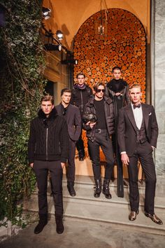 Key men's fashion looks from the Ralph Lauren Purple Label Fall 2016 Presentation - held at the Ralph Lauren Palazzo in Milan, Italy