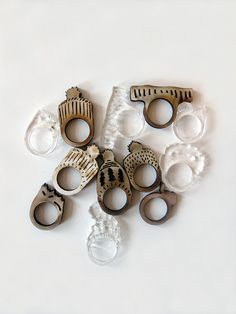Laser Cut Jewellery - contemporary jewelry design; laser cut rings // Celestine