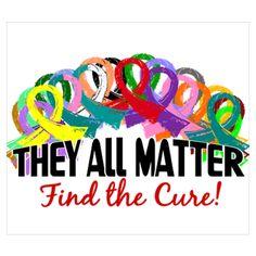 Find a cure. No type of cancer should out do another. Cancer is cancer, Find a cure for all. Ovarian Cancer Awareness, Childhood Cancer Awareness, Breast Cancer Survivor, Cervical Cancer, Colon Cancer, Thyroid Cancer, Cancer Cure, Endometrial Cancer, Endometriosis Awareness