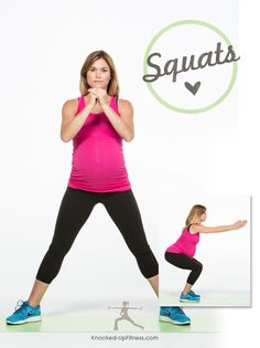 3 exercises for early pregnancy via Knocked Up Fitness