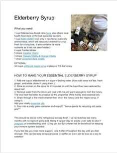 Homemade Elderberry Syrup -