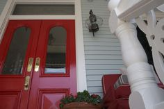 Gorgeous red doors at the Virginia Hotel in Cape May, NJ